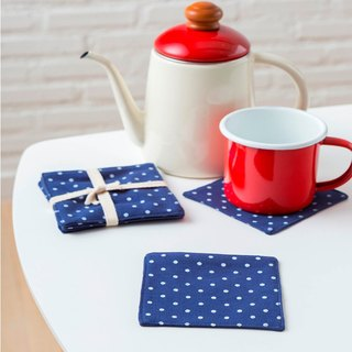 Coaster - Set of 4 - Dot Blue