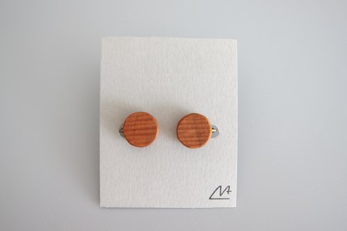 Cherry tree earrings (circle)