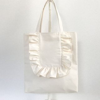 Round Frill Vertical Tote Bag Creation