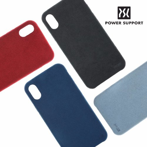 POWER SUPPORT iPhone X 专用 UltraSuede Air Jacket 皮革保护壳