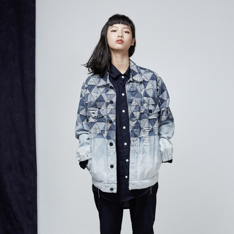 DYCTEAM - Jacquard Denim Jacket 渐层版 / 仅S号