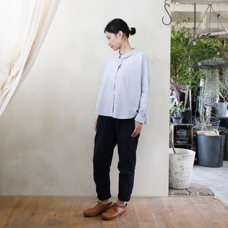 Code lane wide blouse THST · Gray stripe