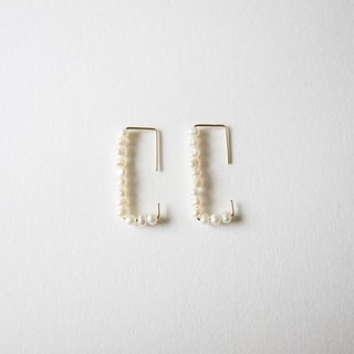 Small pearl pierce 14kgf Pearl Earrings