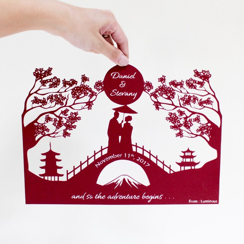 Custom WEDDING/ANNIVERSARY GIFT Handmade Paper Cutting