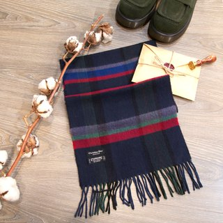 Back to Green:: Christian Dior MADE IN JAPAN Cashmaire 100% vintage scarf (SSC-02)
