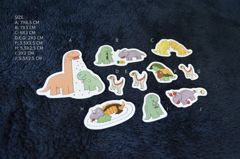 Rawr Stickers (10 pieces/pack)