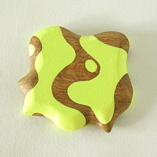 Abstract Vanity Hand Mirror (Lemon-lime) grow