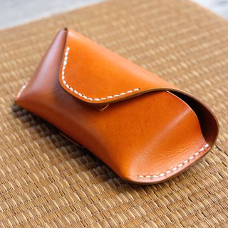 Genuine Leather Handmade Sunglasses Case / Brown