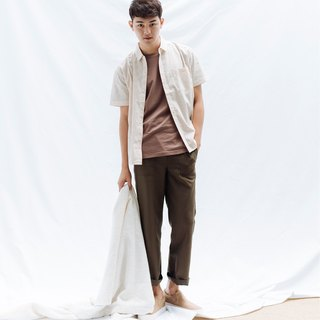 hao Olive green Pocket Trousers 橄榄绿贴袋裤