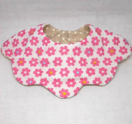 Japanese Handmade 8-layer-gauze 360 circle bib/flower type