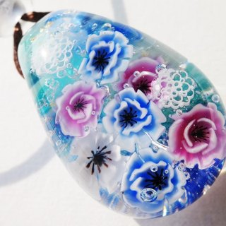 Anemone pendant glass Tonbo bottle spring flower
