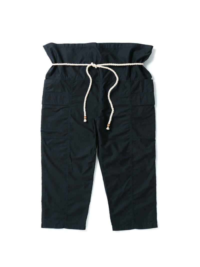 """FOLK"" ARMY FISHERMAN PANTS - NAVY SATIN MOLESKIN"