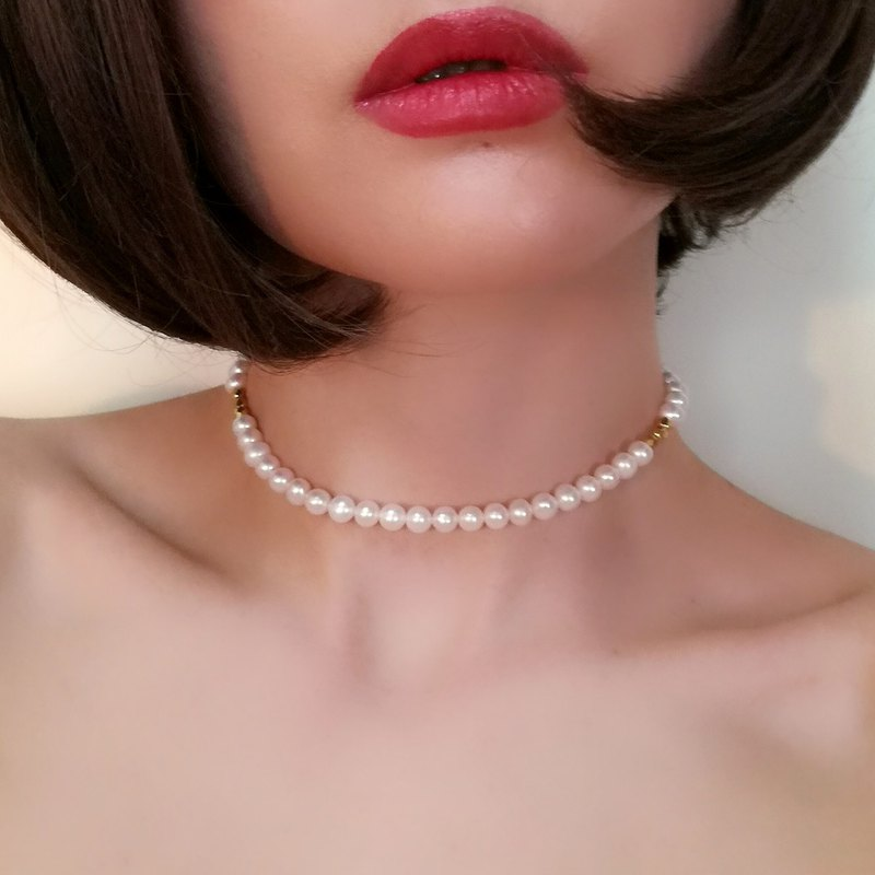 Freshwater Pearl Simple Choker Necklace SV176