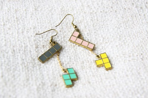 Tetris Earrings - Handmade Jewelry - September Room