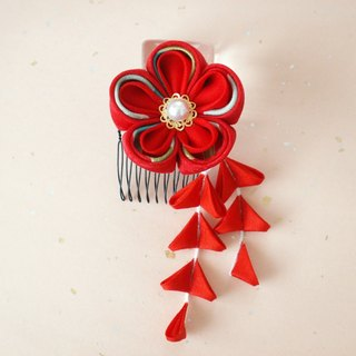 【Order Production】 Knitworks Shichigosan and hair ornaments for adult ceremonies 【It will be a set of hair ornaments like a flower basket】