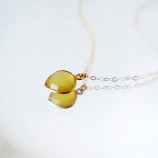 14KGF / SWEET YELLOW CHALCEDONY NECKLACE