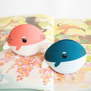 Pink and Blue whale couple coin purse for Valentine's day