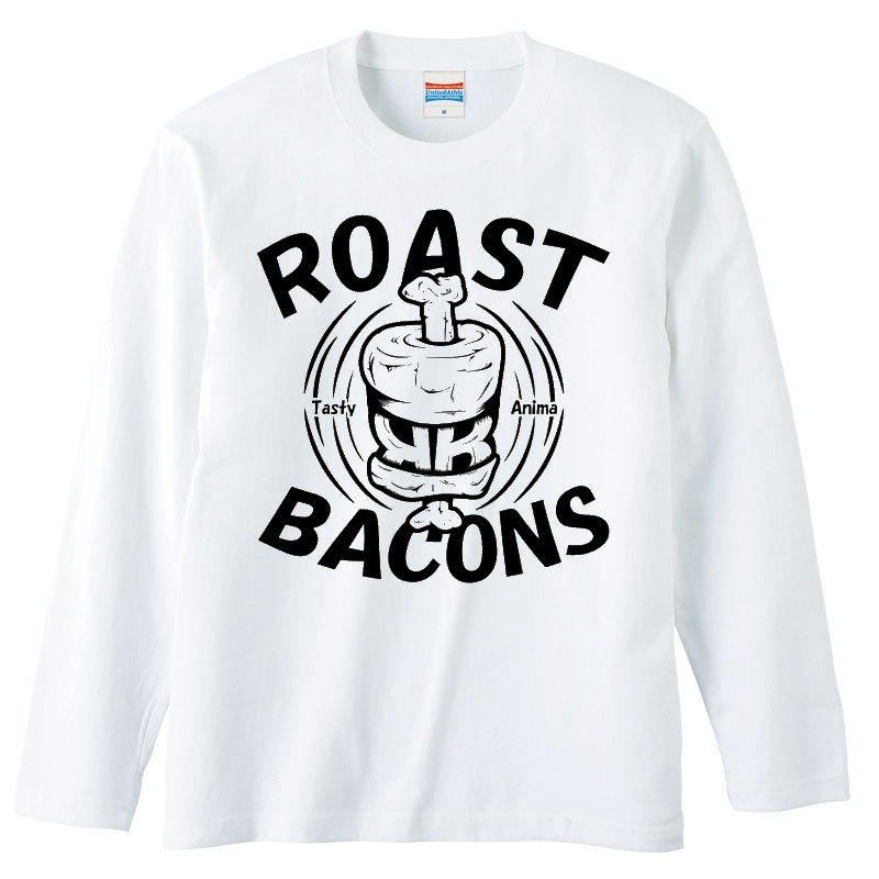 [Long sleeve T-shirt] Roast Bacons