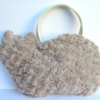 Cat bag * fluffy fur gray