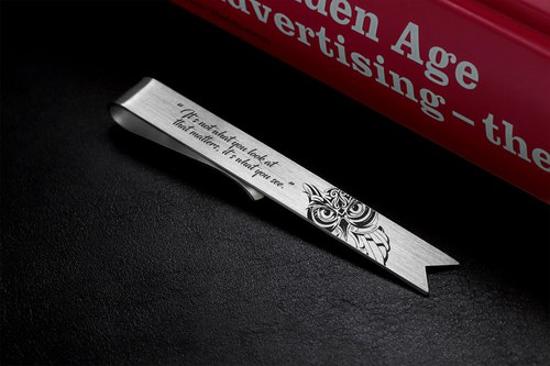 Engraved Bookmark - Owl Bookmark personalized - Sterling silver 925