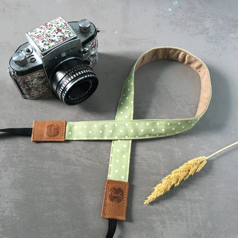Green Polkadot Mirrorless camera Strap