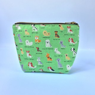 小钱包 Cute Coin Purse- Small Zipper Pouch - Tiny Puppy Dog Breeds Prints