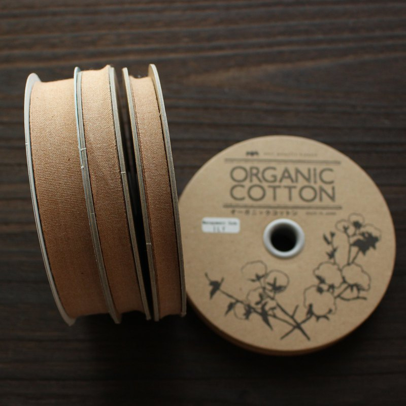 No,1101/#26 Organic Cottone Tape | Taffeta ribbon | woven in Japan  |sold by 20m