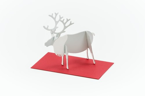 GOOD MORNING INC. 立体卡片 Reindeer/Standing Message Card