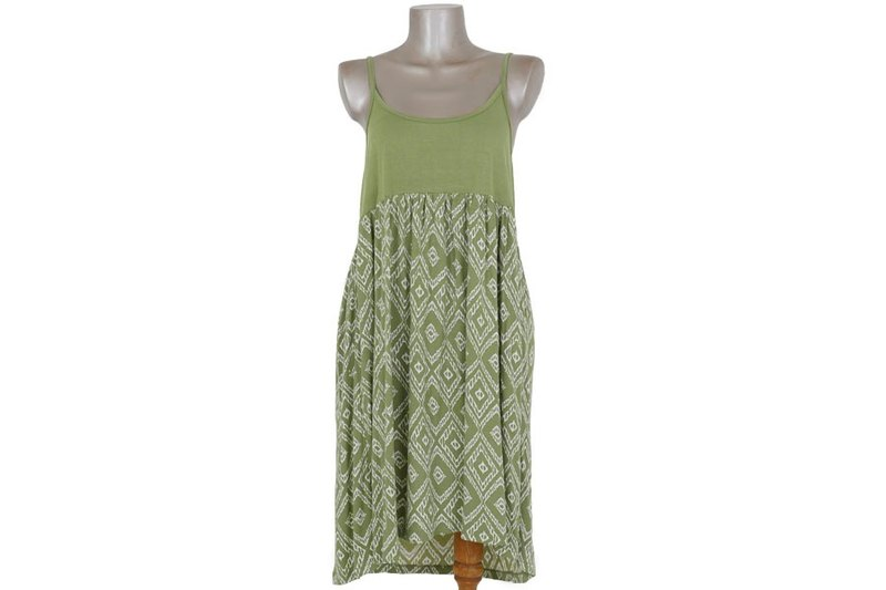 Ikat print camisole dress <green>
