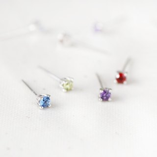 Birthstone Earrings 925 Sterling Silver