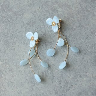 Flower Earrings / Earrings / Ice Blue