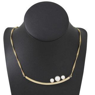 Pearl Necklace - gold
