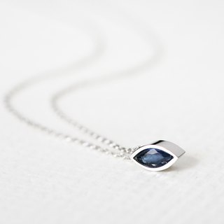 Marquis Sapphire necklace silver 925