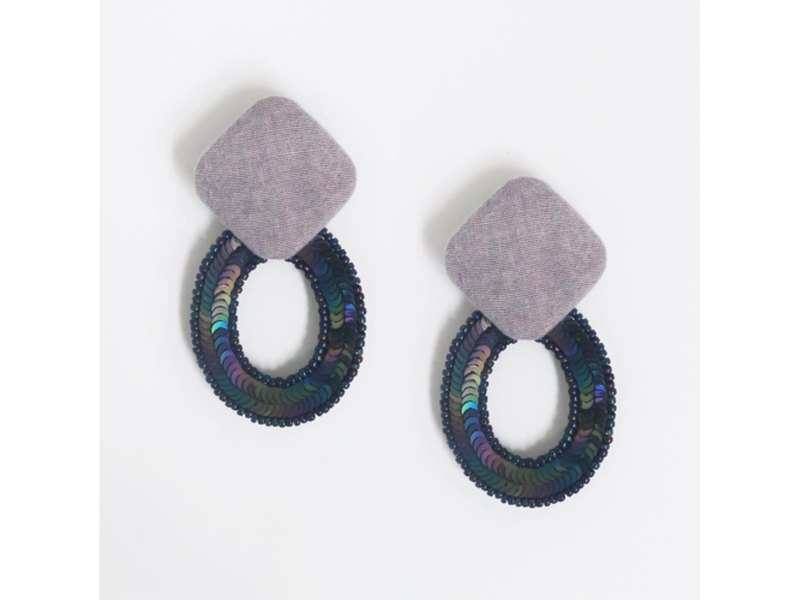 [Binaural earrings] 2 WAY embroidery / E-7 _ E_PL