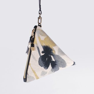 Waltz of the Flowers(golden) triangle Clutch Pouch