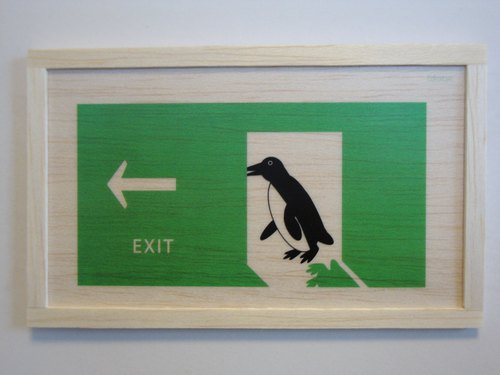 penguin exit sign