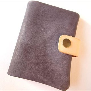 B7 [classic purple] pig leather soft notebook cover [MTO] Leather 1615