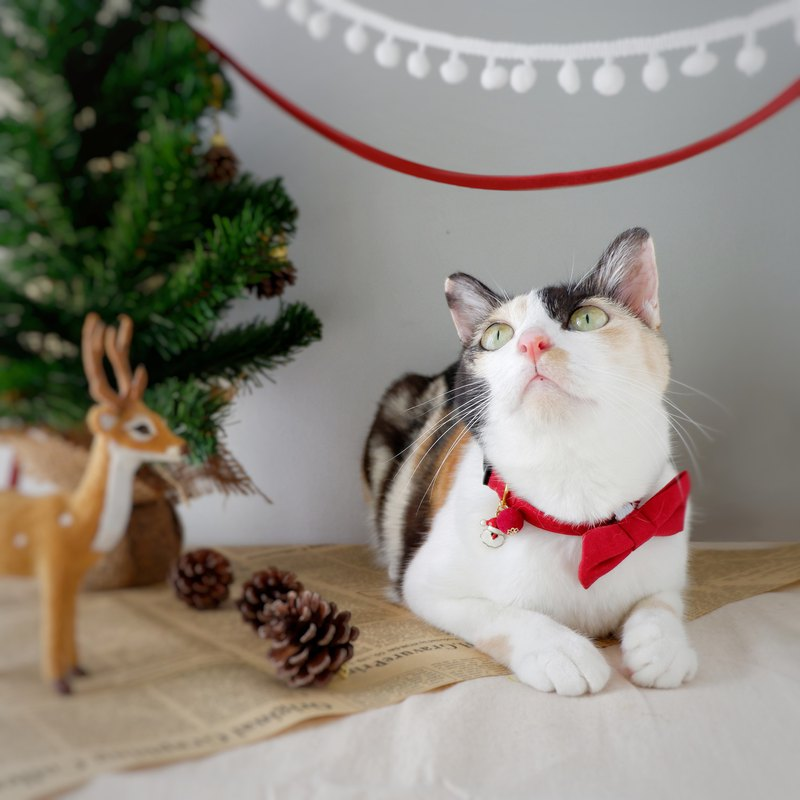 Merry Xmas breakaway Cat Collar