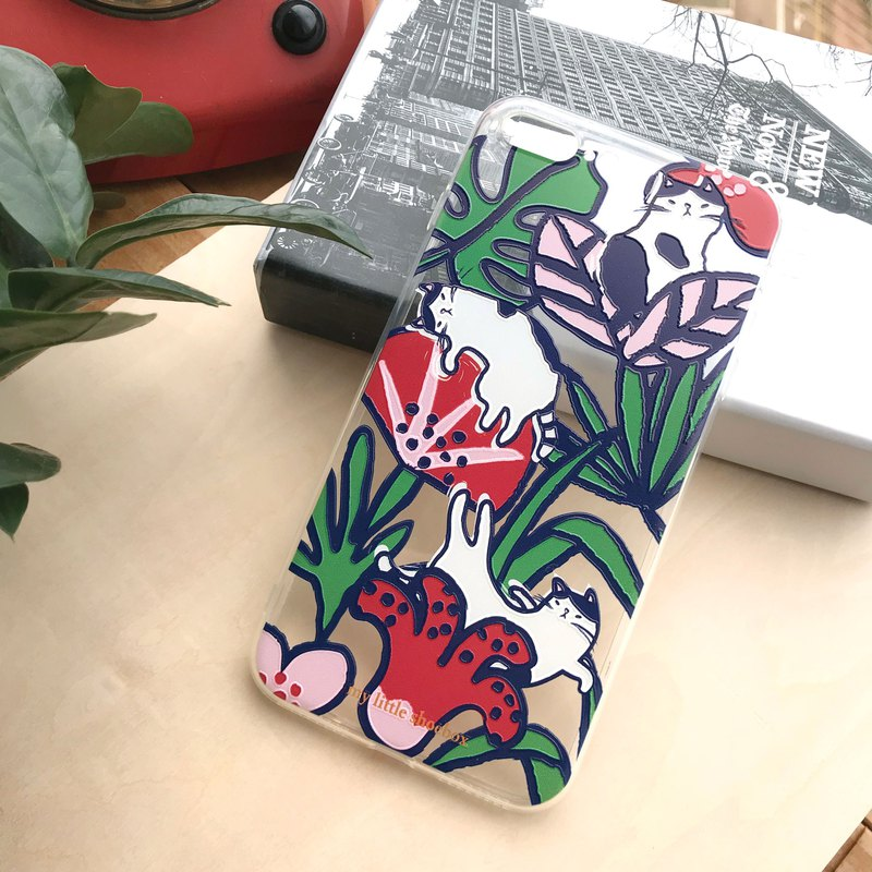 花花猫手机殻 Flower Cat Phone Case