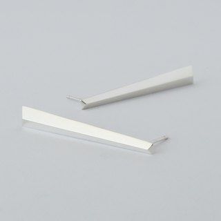 straight earrings (type B) = silver 925 earrings =