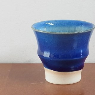 Blue glaze cup (small)