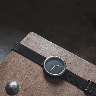 Minimal all black watch