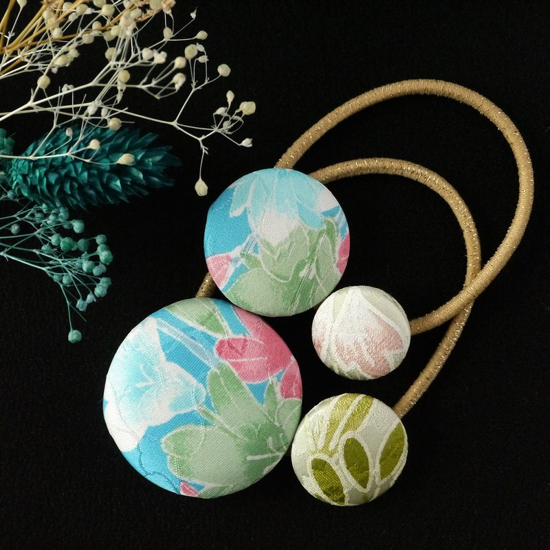 Happy Hair Ornament Kimono Hair Elastic 2 Pack