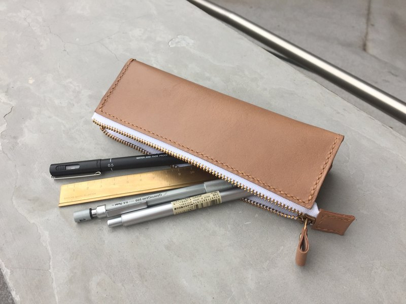 牛皮 真皮 文具 笔袋 Pencil Case Pen holder