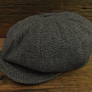 【METALIZE】Unique Texture NewsBoy Cap TYPE-2 复古雪花布报童帽 TYPE-2