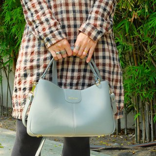 Valley an attractive lady handbag Pastel Blue Grey color
