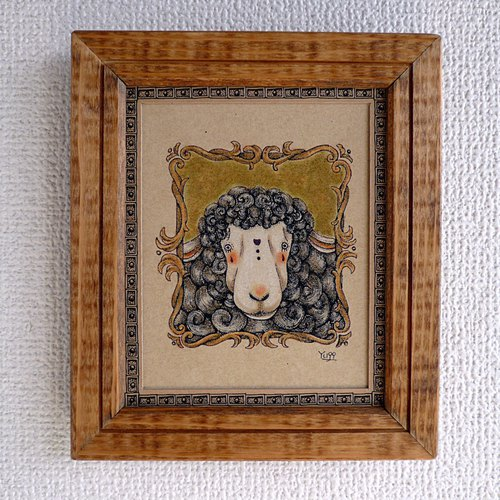 【Framed】 Portrait of a sheep 1