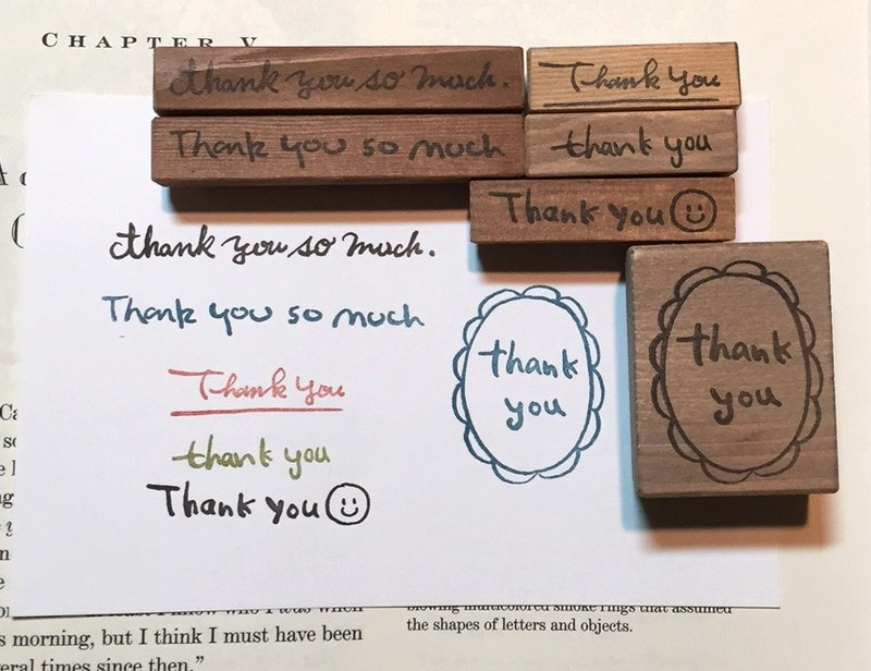 【Thank you】 Stamp set