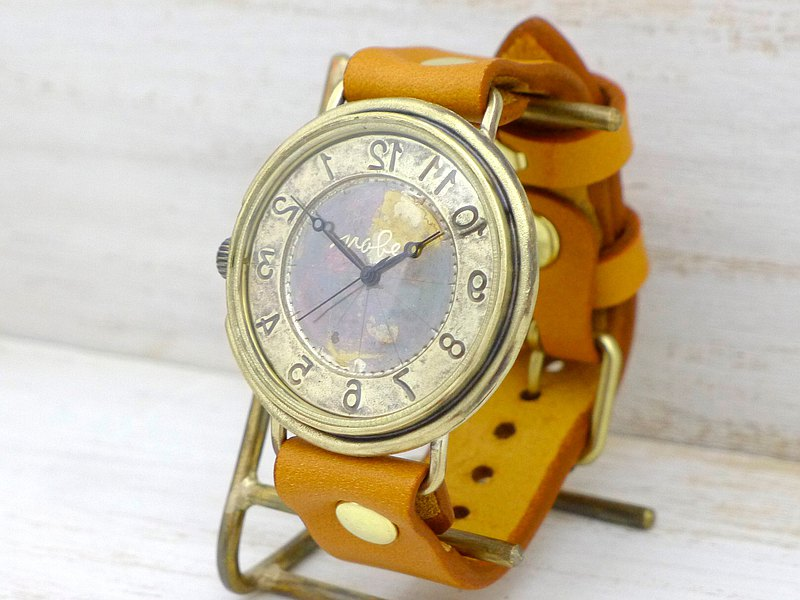 "Handmade watch reverse rotation model ""GIGANT-B-Rev"" 42mmBrass reverse rotation model (JUM129Rev)"