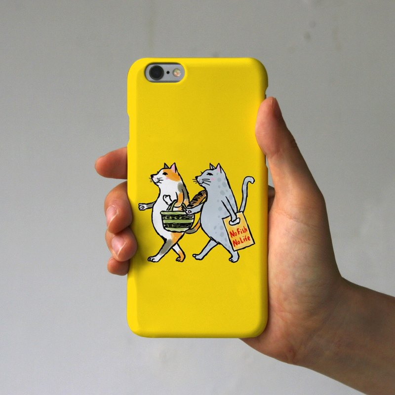 iPhone case cats yellow